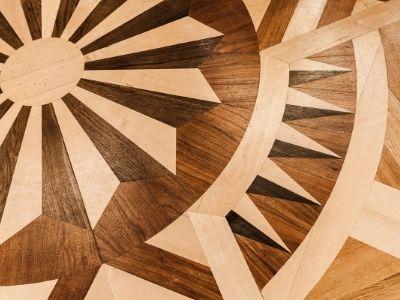 mosaico parquet de madera